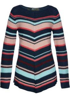 Пуловер асимметричного покроя (темно-синий/разные цвета) Bonprix