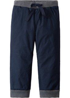 Термо-брюки на трикотажной подкладке (темно-синий/антрацитовый меланж) Bonprix