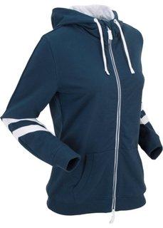 Куртка с длинным рукавом, трикотаж (темно-синий) Bonprix