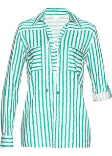 Блузка (белый/мятный с рисунком) Bonprix