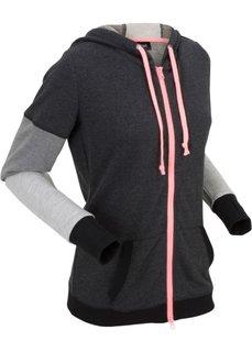 Куртка с длинным рукавом (черный меланж) Bonprix