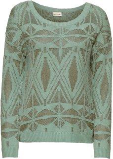 Пуловер с люрексом (мятно-зеленый) Bonprix
