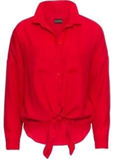 Блузка, завязывающаяся в узел (красный) Bonprix