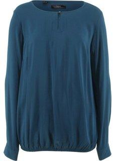 Блуза с длинным рукавом и бантом (темно-синий) Bonprix
