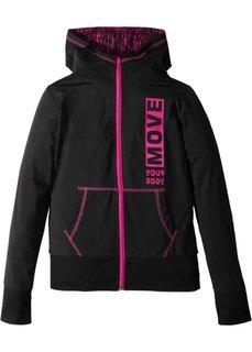 Функциональная спортивная куртка (черный) Bonprix