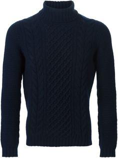 свитер вязки косичкой Drumohr