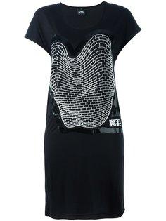 платье с принтом кирпичной кладки KTZ