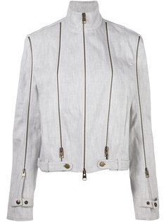 джинсовая куртка с отделкой молниями JW Anderson