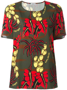 блузка с короткими рукавами и принтом P.A.R.O.S.H.
