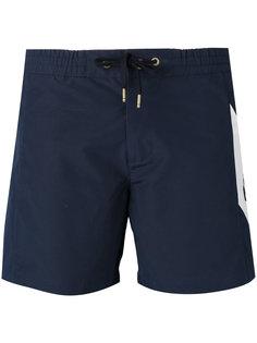 шорты для плавания с узором шеврон Moncler Gamme Bleu