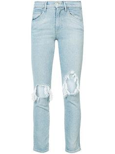 джинсы с дырками на коленях 3X1