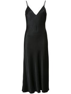 атласное платье на бретелях Frame Denim