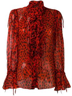 блузка с пятнистым принтом Roberto Cavalli