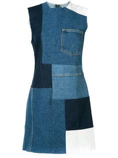лоскутное джинсовое платье Grlfrnd