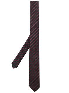 галстук в диагональную полоску Saint Laurent