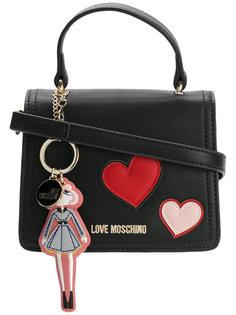 сумка с нашивками в форме сердец Love Moschino