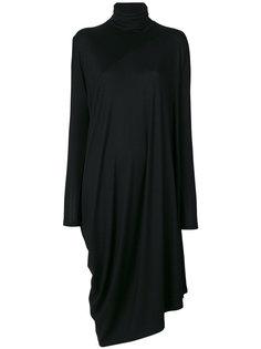 асимметричное платье из джерси Mm6 Maison Margiela