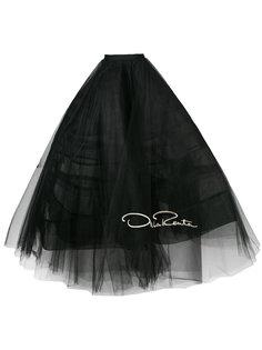 юбка из тюля с вышитым логотипом Oscar de la Renta