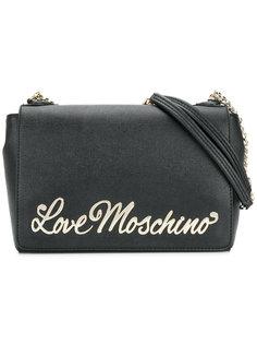 сумка на плечо с бляшкой с логотипом Love Moschino