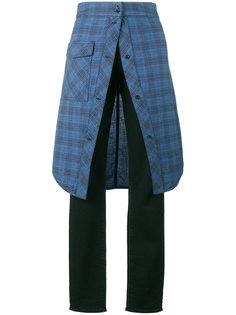 прямые джинсы с клетчатой юбкой Golden Goose Deluxe Brand