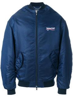 куртка-бомбер с логотипом Balenciaga