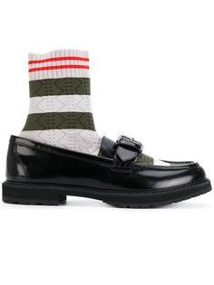 лоферы с вставкой в виде носка Fendi