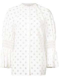 рубашка с рукавами клеш Tiered Carolina Herrera
