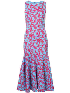 платье-тюльпан с цветочным принтом  Carolina Herrera