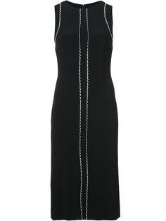 приталенное платье без рукавов  Carolina Herrera