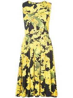 платье без рукавов с принтом Mimosa Carolina Herrera