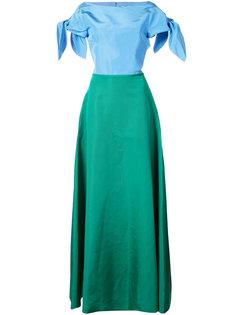 платье с открытой спиной  Carolina Herrera