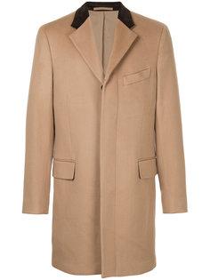 однобортное пальто Kent & Curwen