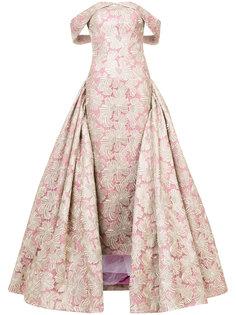 прямое вечернее платье с пышной юбкой Christian Siriano