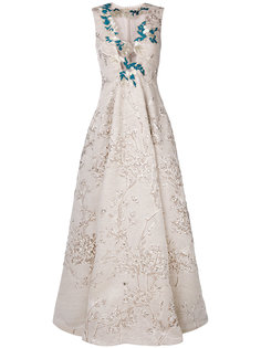 жаккардовое платье  Talbot Runhof