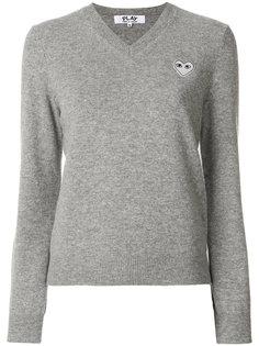 пуловер с V-образным вырезом  Comme Des Garçons Play
