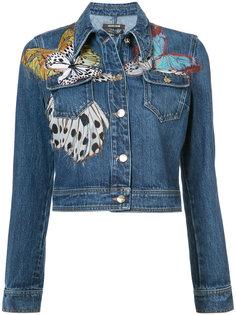 джинсовая куртка с бабочками Roberto Cavalli