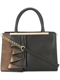 сумка-тоут с металлизированной вставкой и оборкой Christian Siriano
