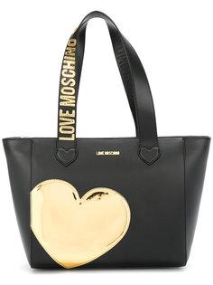сумка-тоут Heart Love Moschino