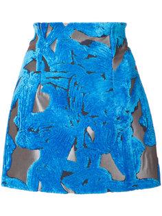 юбка с абстрактными нашивками  Off-White