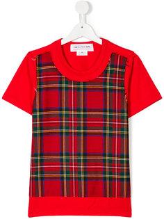 футболка с узором тартан  Comme Des Garçons Girl