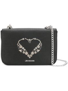 сумка на плечо с декором в виде сердца Love Moschino