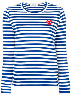 полосатая футболка с длинными рукавами Comme Des Garçons Play