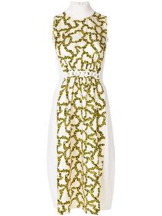 платье с высоким воротником и цветочным принтом Carven
