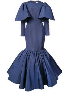 вечернее платье с баской Christian Siriano