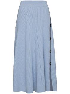 трикотажная юбка на пуговицах Kaori Roksanda