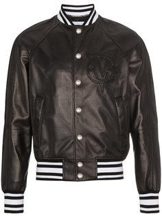 кожаная куртка-бомбер с логотипом Givenchy