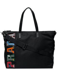 сумка-тоут с принтом логотипа Prada