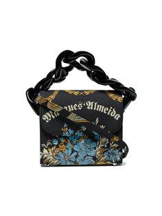 сумка с жаккардовым цветочным принтом и цепочной деталью Marquesalmeida