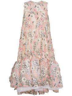 пышное платье с цветочной вышивкой Huishan Zhang