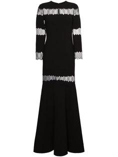платье с кружевной вставкой  Huishan Zhang
